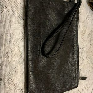 Eileen Fisher soft leather wristlet.